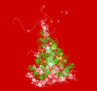 Stock Illustration of Curvy Christmas Tree