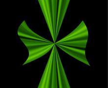 Stock Illustration of Gift green on bl
