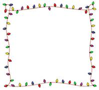 Stock Illustration of festive christmas lights frame