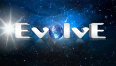 Evolve, animated text for videos full HD Stock Footage