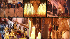 Spanish holy week, collage 2 Stock Footage