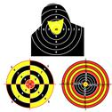 Stock Illustration of set targets for practical pistol shooting, exercise.