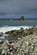 Coast of Tenerife at the north - stock photo