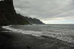 a beach on the canarys - stock photo