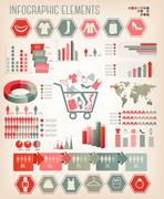 shopping infographics. vector. - stock illustration