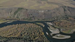 Stock Video Footage of Aerial shot of the Snake River in Idaho