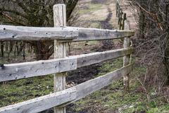 wooden ranch fence - stock photo