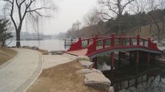 China Beijing Park Yuanmingyuan 17 Stock Footage