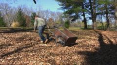 Man does yard work 2 Stock Footage