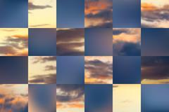 Beautiful vector cloudscape - stock illustration