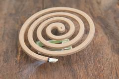 Burning mosquito coil Stock Photos
