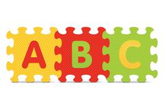 """vector """"abc"""" written with alphabet puzzle - stock illustration"""