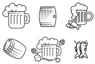 Stock Illustration of beer and alcohol symbols