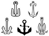 Stock Illustration of set of anchor symbols