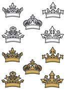 Stock Illustration of heraldic crowns