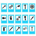 Stock Illustration of auto car repair service icon symbol