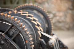 Teräs hammaspyörät metal gears mekaaninen räikkä Kuvituskuvat