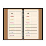 black notebook weekly planner - stock illustration