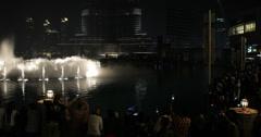 Ultra HD 4K UHD Dubai Dancing Water Illuminated Magic Fountain Night Lights UAE Stock Footage