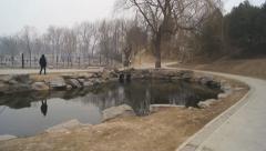 China Beijing Park Yuanmingyuan 18 Stock Footage