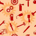 Stock Illustration of auto car repair service icon symbol.