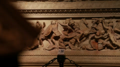 Alexander Sarcophagus-Istanbul Archaeology Museums - stock footage