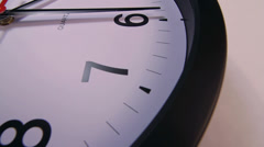 Clock Face Number Countdown Close Up Stock Footage