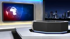 News studio 99C3(push) Stock Footage
