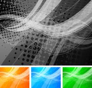 Abstract wavy backdrops Stock Illustration