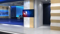 News studio 101C3(push) Stock Footage
