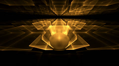 Golden Cubes Rotating in Perspective - stock footage