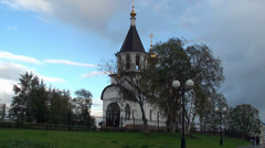 Types of Nefteyugansk. Ortodox church. Nefteyugansk. Yugra, Russia. Stock Footage
