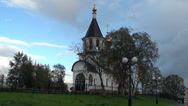 Stock Video Footage of Types of Nefteyugansk. Ortodox church. Nefteyugansk. Yugra, Russia.