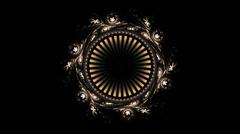 Animated Ornamental Vintage Decorative Background Stock Footage