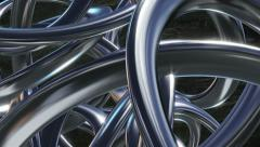 Liquid silver steel chrome abstract background Stock Footage