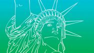 Stock Video Footage of Drawing Liberty (HD)