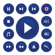 Audio icon web Stock Illustration