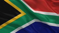 Flag of South Africa - seamless loop Stock Footage