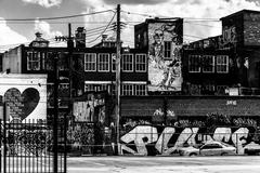 Graffiti and old buildings in baltimore, maryland. Stock Photos