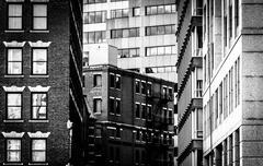 Layers of buildings in boston, massachusetts. Stock Photos