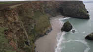 Stock Video Footage of Western Cove Portreath North Cornwall England UK