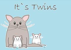 It´s twins Stock Illustration