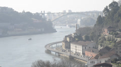 View of the city of Porto, Portugal Stock Footage