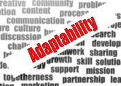 Stock Illustration of adaptability word cloud