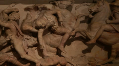 Alexander Sarcophagus-Istanbul Archaeology Museums Stock Footage
