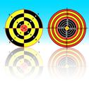 Stock Illustration of targets for practical pistol shooting