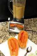 Papaya seeds blended Stock Photos