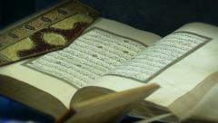 Quran - Islamic calligraphy Stock Footage