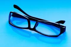 Optical reading glasses on the background - stock photo