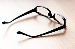 Optical reading glasses on the background Stock Photos